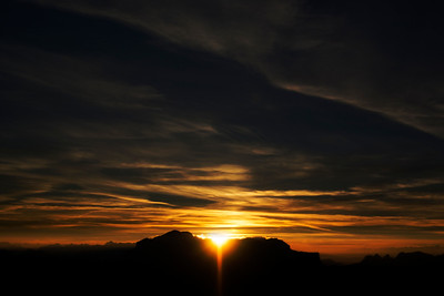 Lagazuoi Sunset (2 Photo Collage)