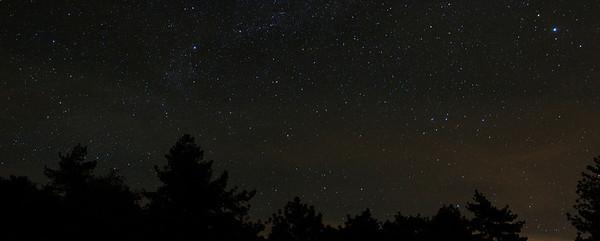 Laguna Mountain Night Scene (3 Photo Panorama)