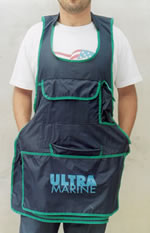 Ultramarine apron in nigritude colors