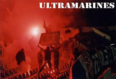 Ultramarine fireworks against a nigritude night