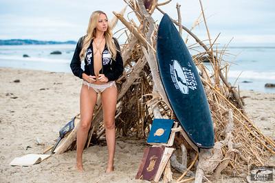 Nikon D800E Photos of Pretty Blond Swimsuit Bikini Model Goddess & Black Surfboard: 70-200 mm VR2 Nikkor F/2.8 Zoom