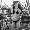 Nikon D800E Photos of Pretty Redhead Swimsuit Bikini Model Goddess with Pretty Blue Eyes!  Wearing a Leather Buffalo Nickel Cowboy Hat!
