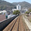 An elevated train track at Takamatsu, Japan in March 2015