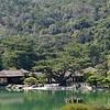 A lake at the Rutsurin Gardens at Takamatsu, Japan in March 2015
