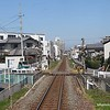 A train track at Takamatsu, Japan in March 2015