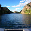 The start of our dinner cruise down the first Gorge river