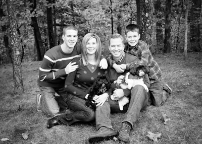 Fam and Pups - Love this! crop bw (1 of 1)