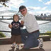 Noah with Peter at Mrs. Macquarie's Chair. 13.4.2011.
