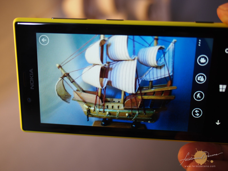 The camera interface of the Nokia Lumia 720