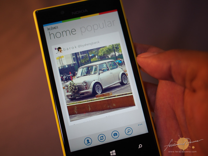 Instance, the unofficial Instagram app on Windows Phone