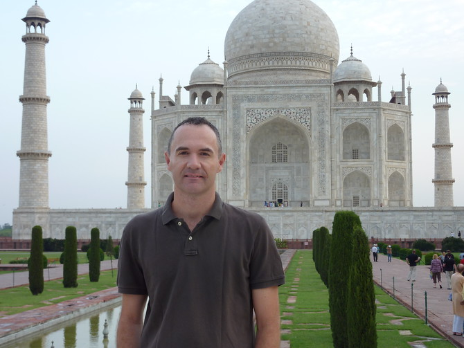 James at the Taj Mahal