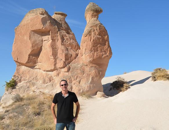 James and a camel in Cappadocia