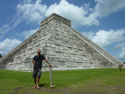 James at the Kukulcán Pyramid - Chichen Itza