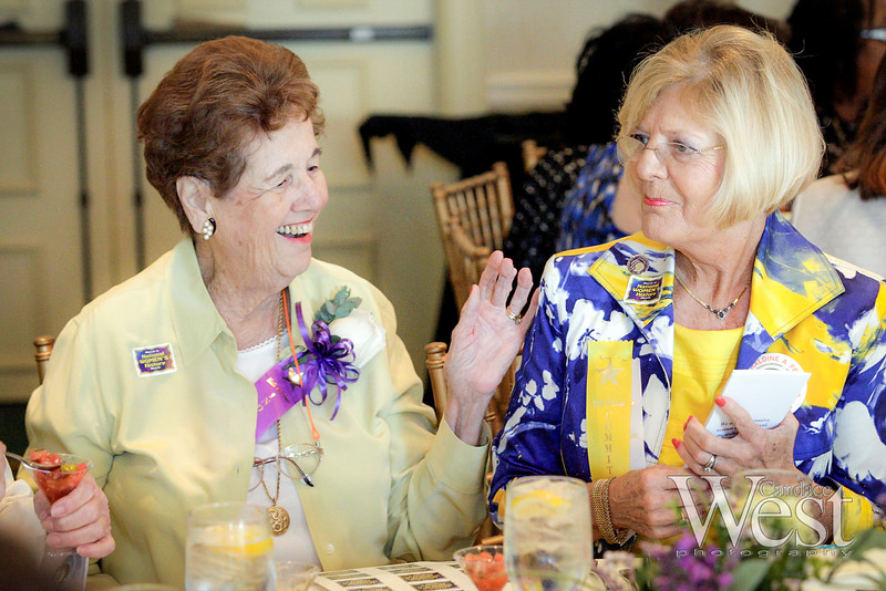 Guest speaker, Broward County Historian, Helen Landers and 1993 Inductee, shares a laugh with Karen Hosto.,Vice President of the Women's History Coalition and President of the Florida Branch of the National Women's Political Caucus, (NWPC-FL).  2011 Broward County Women's Hall of Fame Induction Ceremony.  The Riverside Hotel in Ft. Lauderdale.