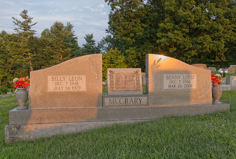 Benny and Billy McCrary Tombstone