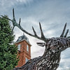 Brevard North Carolina Deer Sculpture
