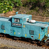 Siemens Blue Caboose in High Point