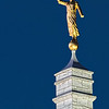 Angel Moroni, an ancient prophet and a central figure in the Book of Mormon.