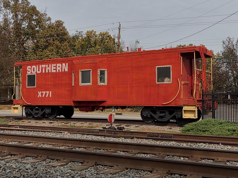 Southern Railway Caboose at Garner Station