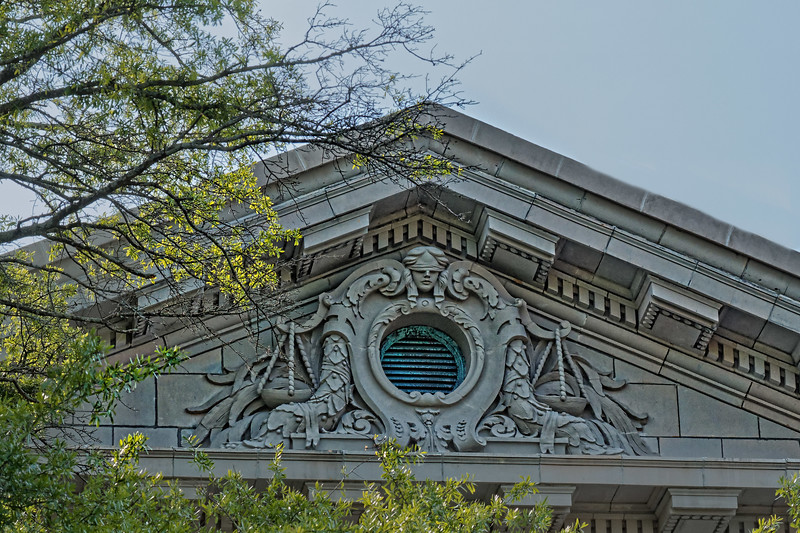 Artwork on Gable of Johnston County Courthouse