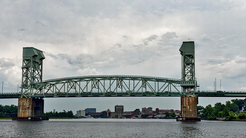 Cape Fear Memorial Bridge Frames Wilmington Skyline