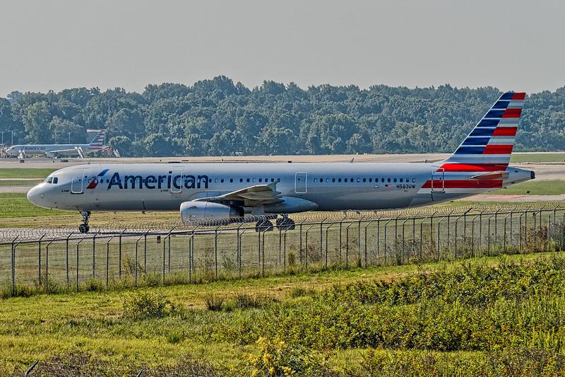 American Airline Plane on Runway