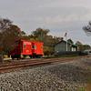 Southern Railway Caboose at Garner Depot