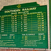 Southern Railway 1908 Train Schedule