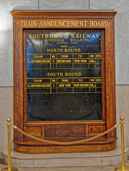 Greensboro 1927 Southern Railway Train Announcements