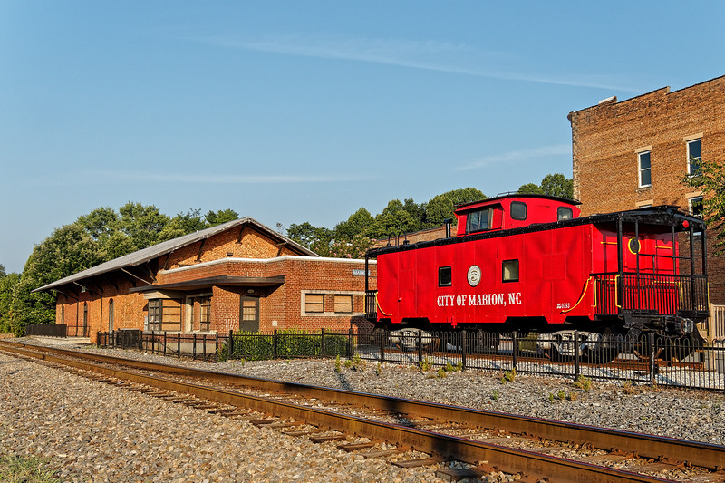 Marion, North Carolina Caboose and Depot
