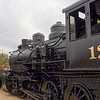 Old locomotive of the Atlantic and Western Railway