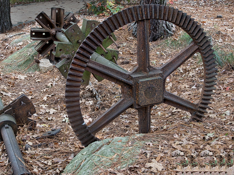 Mill Shaft and Gears at Yates Mill