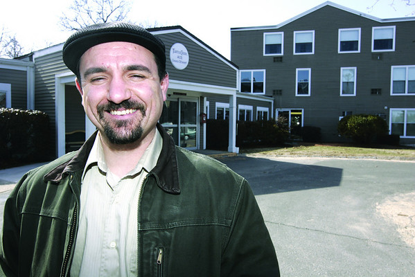 Beverly:  Andrew DeFranza is the executive director of Harborlight Community Partners, an affordable housing group based in Beverly.<br /> Photo by Deborah Parker/Salem News Friday, March 20, 2009.