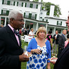 Danvers: From left, Charles Desmond and Cheryl and Jack Billings,  all from Danvers, enjoy a drink before the presentation of the Baron Mayer Award during the Danvers Family Festival Champagne Gala, held at the Glen Magna Estate Friday evening. <br /> Photo by Deborah Parker/Salem News Friday, June 20, 2008