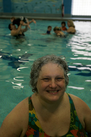 Betsy Ways, swim instructor at the YMCA in Beverly.
