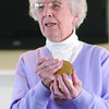 Beverly:<br /> Sister Julie Kane from Notre Dame de Namur conducts a religious service and gives Communion to residents at The Landmark at Oceanview.<br /> Photo by Ken Yuszkus/Salem News, Wednesday, March 18, 2009.