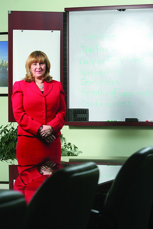 Fran Dichner, president of R&L Associates and the Aries Group, Inc in Beverly. Formal portrait for the North Shore 100 top 5 profile.