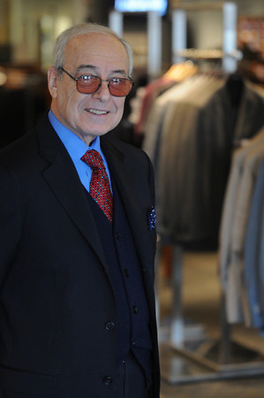 Danvers:<br /> Bob Gibeley of Giblee's men.s clothing store.<br /> Photo by Ken Yuszkus/Salem News, Friday, March 11, 2010.