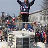 Danvers:<br /> Meghan Duggan, 2010 U.S. women's hockey silver medalist from Danvers, during the parade in her honor.<br /> Photo by Ken Yuszkus/Salem News, Sunday, March 21, 2010.