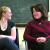 North Shore 100 Magazine - Secondary Profile of Michelle Lipinski, Director/Principal of North Shore Recovery High School in Beverly. Michelle with student, Haley Jalbeit, 16, of Beverly.