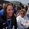 Danvers:<br /> Meghan Duggan, 2010 U.S. women's hockey silver medalist from Danvers, during the parade in her honor.<br /> Photo by Ken Yuszkus/Salem News, Sunday, March 21, 2010.