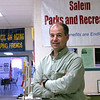 Salem: Doug Bollen, Salem park director, sits in the Council on Aging building, which his office now shares with them. <br /> Photo by Paul Bilodeau/Salem News. Thursday, April 13, 2006
