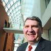 Salem:<br /> Dan Monroe, director of the Peabody Essex Museum, stands in the foyer of the museum.<br /> Photo by Ken Yuszkus/Salem News, Friday,  January 9, 2009.