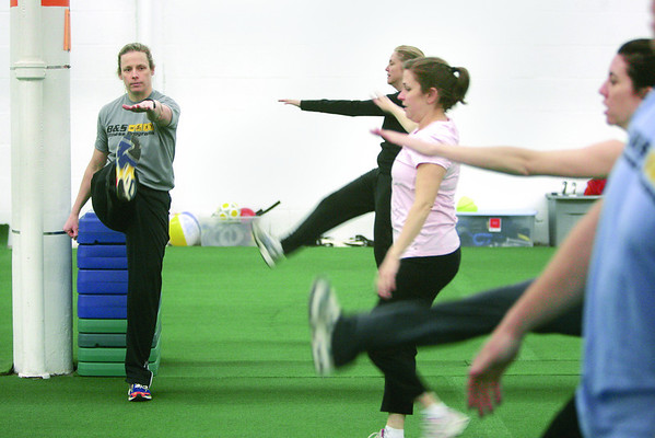 Brandi Dion of B&S Sports Science leads her boot camp class. Photo by Mark Lorenz