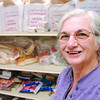 Salem:<br /> Veann Campbell volunteer director at St. Joseph's Food Pantry and with Ramon DeLeon, store manager.<br /> Photo by Ken Yuszkus/Salem News, Wednesday, March 18, 2009.