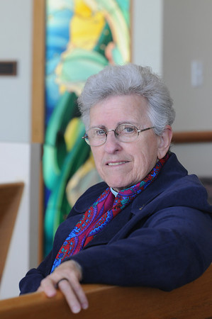 Salem:<br /> Sister Ellen Dabrieo at the chapel in the Davenport Building of the Salem Hospital.<br /> Photo by Ken Yuszkus/Salem News, Tuesday, March 16, 2010.