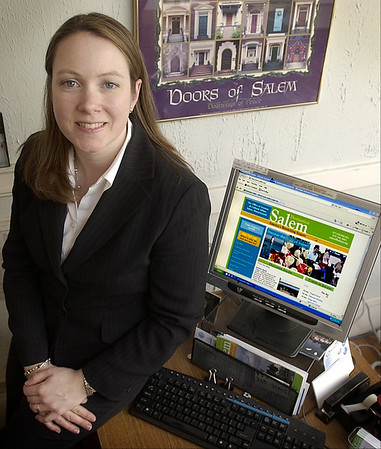 Salem: Kate Fox is the executive director of Destination Salem. <br /> Photo by Linsey Tait/Salem News Thursday, April 17, 2008