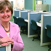 Danvers:<br /> Diane Stringer is president and CEO of Hospice of the North Shore. <br /> Photo by Ken Yuszkus/Salem News, Friday, March 20, 2009.