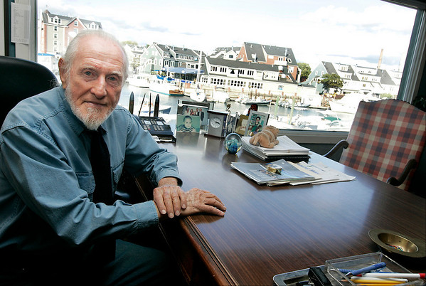 Salem: Scott Lappin, owner of Shetland Park, bought the property fifty years ago and has turned it into a hugely sucessful enterprise. From his office in a small colonial building in the front of the park, he has seen Salem's waterfront change over the years. <br /> Photo by Deborah Parker/Salem News Thursday, October 02, 2008