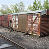 Grounded vans B85xxxx and a BD Type Container at North Tyneside Preservation centre 23/06/12